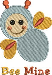 Baby Bee Mine embroidery design