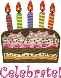 Celebrate Cake embroidery design