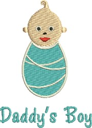 Baby Daddys Boy embroidery design