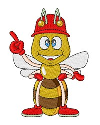 Bumblebee Firefighter embroidery design