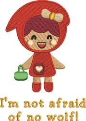 Im Not Afraid embroidery design