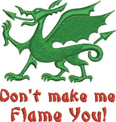 Flame You embroidery design