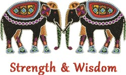 Strength and Wisdom embroidery design