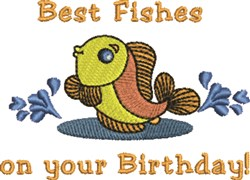 Best Fishes embroidery design