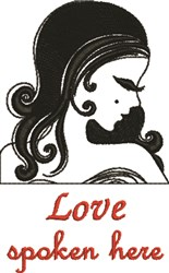 Love Spoken Here embroidery design