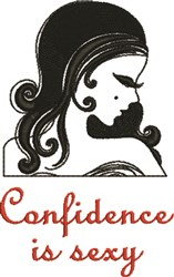 Confidence Is Sexy embroidery design