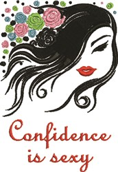 Sexy Confidence embroidery design