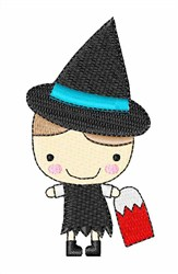 Halloween Witch Girl embroidery design