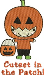 Cutest In Patch embroidery design