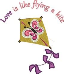 Kite Love embroidery design