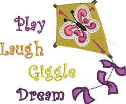 Kite Play embroidery design
