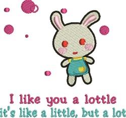 Like Lottle embroidery design