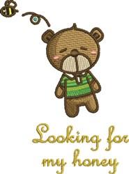 My Honey embroidery design