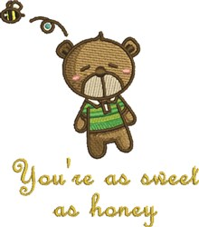 Sweet As Honey embroidery design