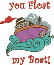 Float My Boat embroidery design