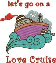Love Cruise embroidery design