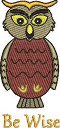 Be Wise embroidery design