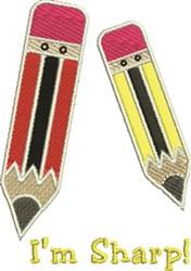 Im Sharp Pencil embroidery design