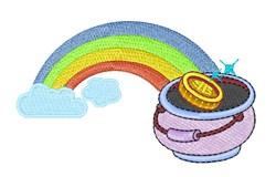 Rainbow & Gold Pot embroidery design