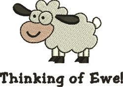 Thinking Of Ewe embroidery design