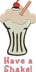 Have A Shake embroidery design