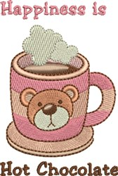 Hot Chocolate Happiness embroidery design