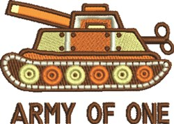 Army Of One embroidery design