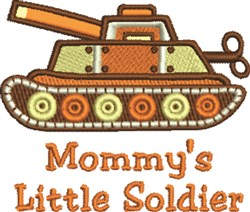 Mommys Soldier embroidery design