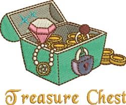 Treasurer Chest embroidery design
