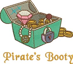 Pirates Booty embroidery design