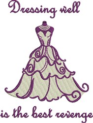 Dressing Well embroidery design