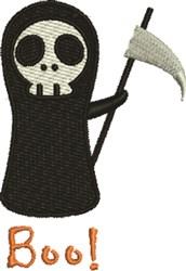 Grim Reaper Boo embroidery design