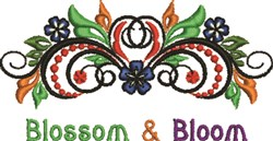 Blossom & Bloom embroidery design