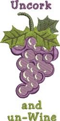 Uncork And Un-Wine embroidery design