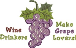 Grape Lovers embroidery design
