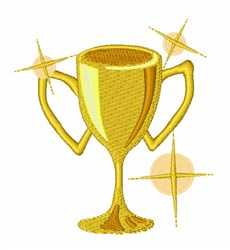 Gold Trophy embroidery design