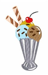 Ice Cream Milkshake embroidery design