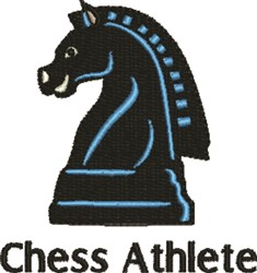 Chess Athlete embroidery design