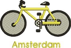 Amsterdam Bike embroidery design