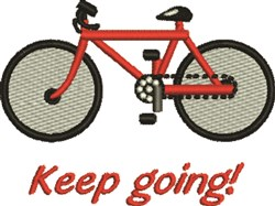 Keep Going embroidery design