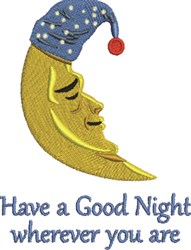 A Good Night embroidery design