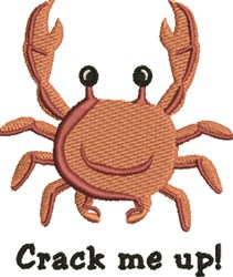 Crab Crack embroidery design