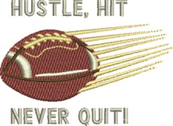 Hustle Hit embroidery design