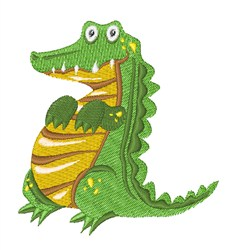 Alligator embroidery design