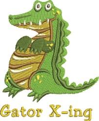 Gator X-ing embroidery design