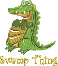 Swamp Thing embroidery design