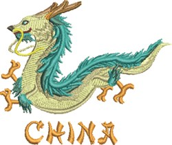 Dragon China embroidery design