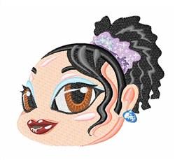 Princess Girl Head embroidery design