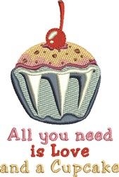 Need A Cupcake embroidery design