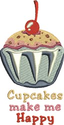 Happy Cupcakes embroidery design